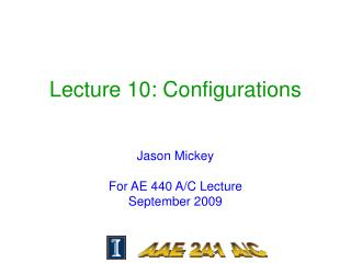 Lecture 10: Configurations