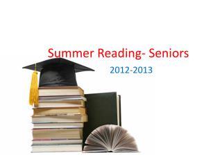 Summer Reading- Seniors