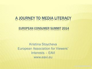 a journey to media literacy European consumer summit 2014