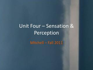Unit Four – Sensation & Perception