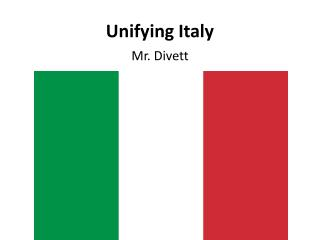 Unifying Italy