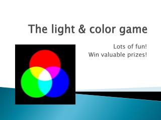 The light & color game