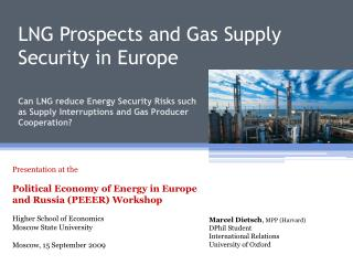 LNG Prospects and Gas Supply Security in Europe