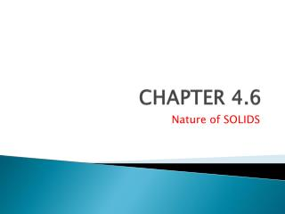 CHAPTER 4.6