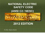 NATIONAL ELECTRIC SAFETY CODE ANSI C2
