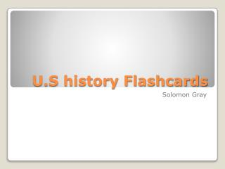 U.S history Flashcards