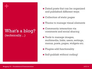 What's a blog? (technically…)