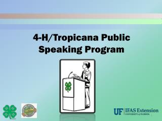 4-H/Tropicana Public Speaking Program