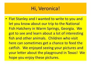 Hi, Veronica!