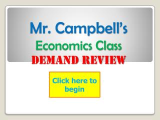 Mr. Campbell's Economics Class Demand Review