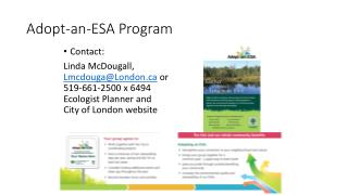 Adopt-an-ESA Program