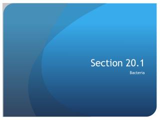 Section 20.1