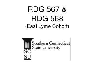 RDG 567 & RDG 568 (East Lyme Cohort)
