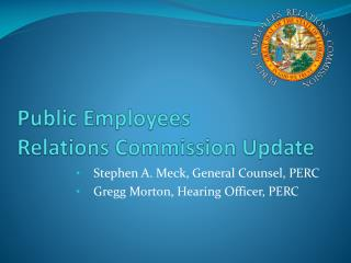 Public Employees Relations Commission Update