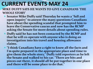 CURRENT EVENTS MAY 24