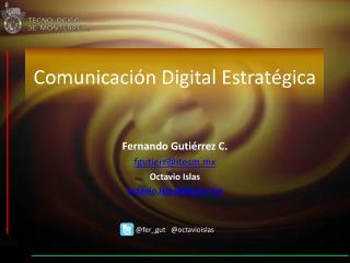 Comunicación Digital Estratégica