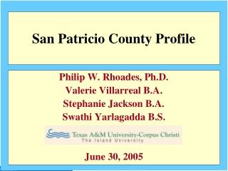 2000 San Patricio County Population by Age