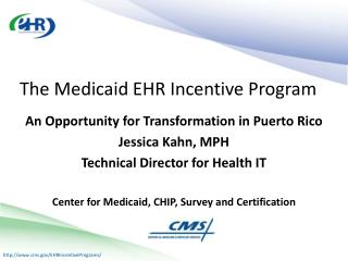 An Opportunity for Transformation in Puerto Rico Jessica Kahn, MPH