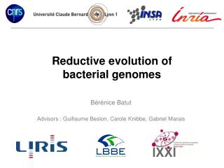 Reductive evolution of  bacterial genomes