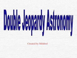 Double Jeopardy Astronomy