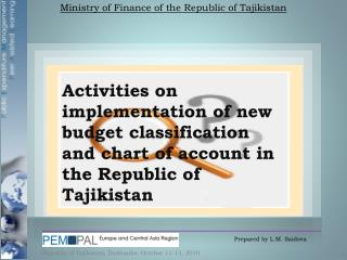 Ministry of Finance of the Republic of Tajikistan