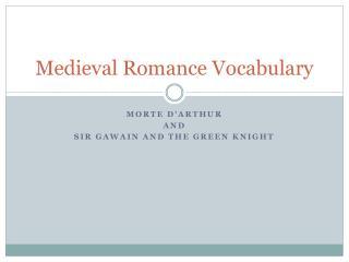 Medieval Romance Vocabulary
