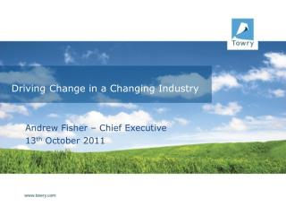 Driving Change in a Changing Industry
