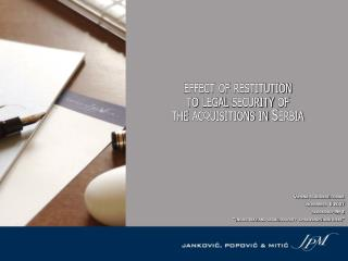 effect of restitution  to legal security of  the acquisitions in Serbia