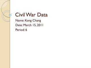 Civil War Data