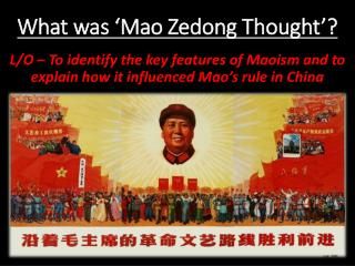 What was 'Mao Zedong Thought'?