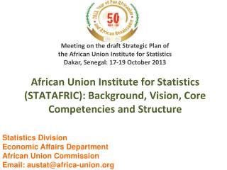 Meeting on the draft Strategic Plan of  the African Union Institute for Statistics