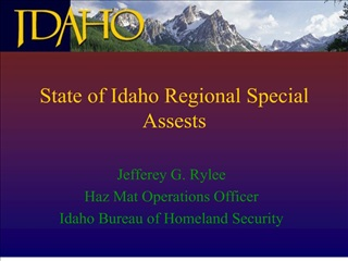 State of Idaho Regional Special Assests