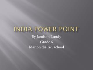 India power point