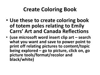 Create  Coloring  Book
