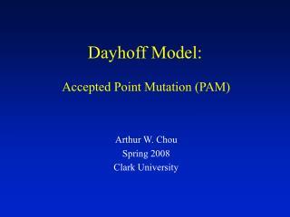 Dayhoff Model: