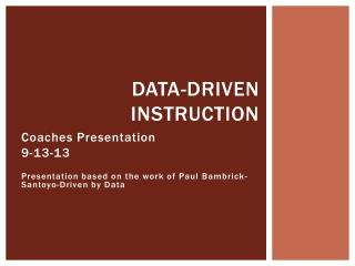 Data-Driven Instruction