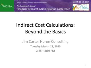 Indirect Cost Calculations: Beyond the Basics