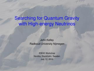 Searching for Quantum Gravity with High-energy Neutrinos