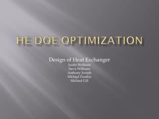 HE DOE-Optimization