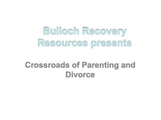 Bulloch Recovery Resources presents
