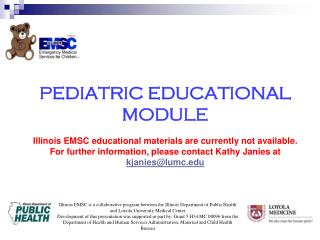 Pediatric educational module