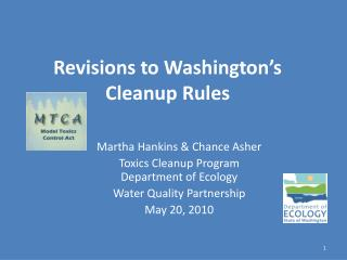 Revisions to Washington's Cleanup Rules
