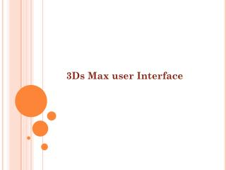 3Ds Max user Interface