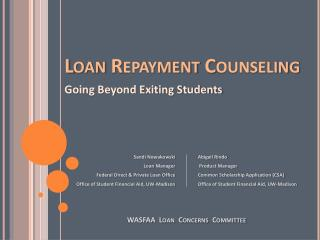 Loan Repayment Counseling