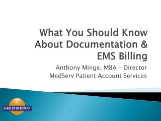 What You Should Know About Documentation & EMS Billing