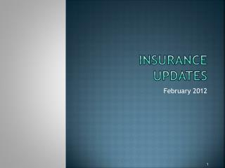 Insurance UPDATES