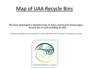 Map of UAA Recycle Bins