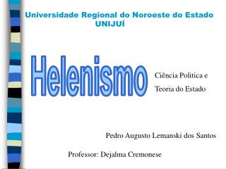 Universidade Regional do Noroeste do Estado       UNIJUÍ