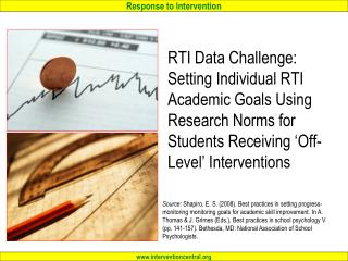 Setting Individual Student RTI Academic Goals Using Research Norms