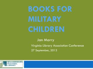 Books for Military children